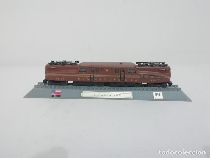 LOCOMOTORA PENNSYLVANIA RAILROAD GG1 ESCALA N USA COLECCIÓN DEL PRADO NUEVA (Juguetes - Trenes Escala N - Otros Trenes Escala N)
