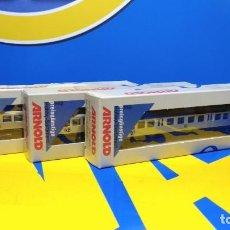 Trenes Escala: LOTE DE 3 VAGONES PASAJEROS ARNOLD MODELLEISENBAHN SPUR N - MODELO 5807-SIN USO. Lote 193872255