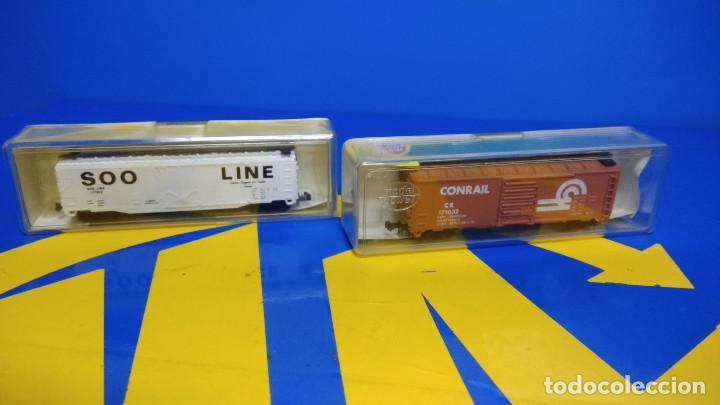 VAGON DE MERCANCIAS -2 VAGONES MODEL POWER ESCALA N MODELOS 4030 + 3439-NUEVOS (Juguetes - Trenes Escala N - Otros Trenes Escala N)