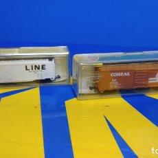 Trenes Escala: VAGON DE MERCANCIAS -2 VAGONES MODEL POWER ESCALA N MODELOS 4030 + 3439-NUEVOS. Lote 194862986