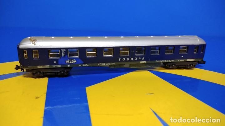 Trenes Escala: Vagón pasajeros Escala N TOUROPA CFPC - Minitrix N 3013 Expreso Durmiente - Foto 2 - 194874155