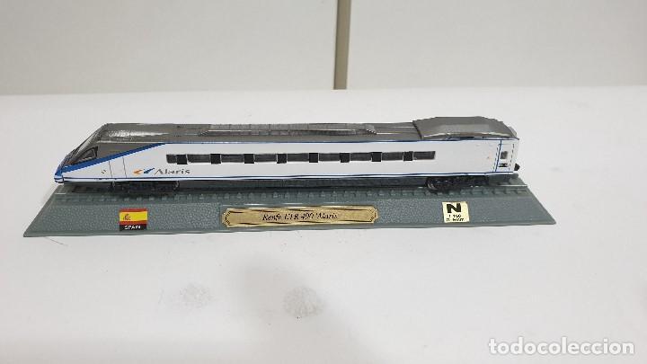 Trenes Escala: EDICIONES DEL PRADO RENFE ETR 490 ALARIS TRENES METAL ESCALA 1:160 - Foto 2 - 194891925