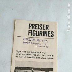 Trenes Escala: PRESISER CATÁLOGO FIGURINES FIGURAS, 1966. Lote 194972775
