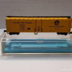 Trenes Escala: ATLAS VAGON WESTERN FRUIT EXPRESS REF.2490 ESCALA N EN BLISTER. Lote 195150535