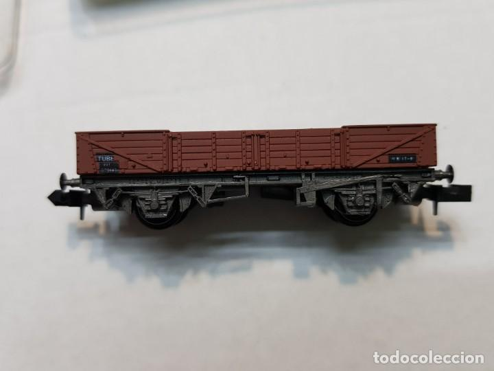 Trenes Escala: Peco Vagon descubierto TUBE escala N en blister sin uso - Foto 2 - 195152715