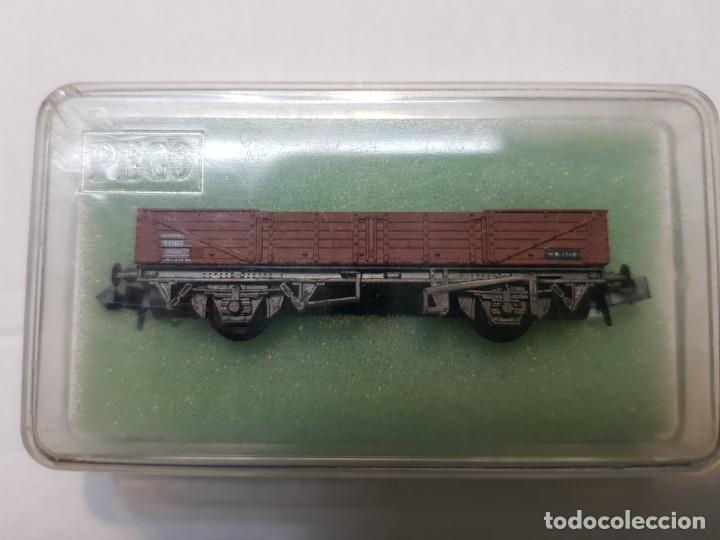 Trenes Escala: Peco Vagon descubierto TUBE escala N en blister sin uso - Foto 5 - 195152715