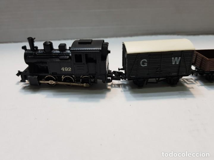 Trenes Escala: Locomotora Vapor y 5 vagones Graham Farish escala N - Foto 2 - 195153128