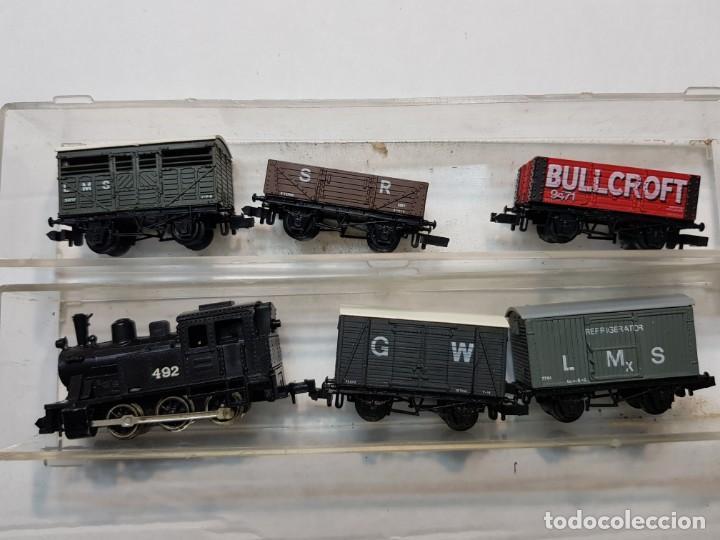 Trenes Escala: Locomotora Vapor y 5 vagones Graham Farish escala N - Foto 6 - 195153128