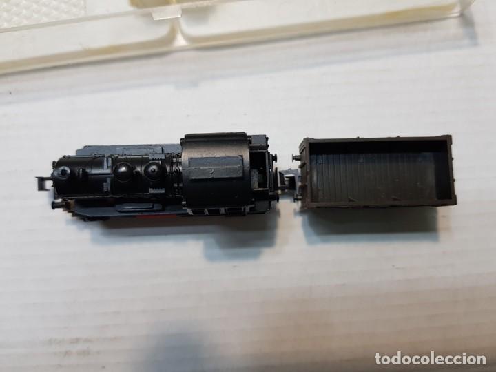 Trenes Escala: Trix Locomotora a Vapor Western Germany escala N con Vagon en blister - Foto 3 - 236688570