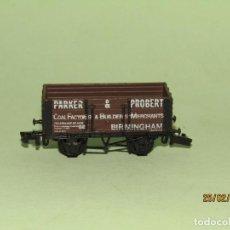 Trenes Escala: ANTIGUO VAGÓN PARKER & PROBERT EN ESCALA *N* DE GRAHAM FARISH FABRICADO EN INGLATERRA. Lote 195395006