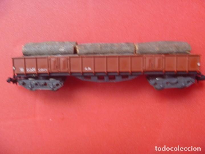 Trenes Escala: IBERTREN REF 142 VAGÓN 4 EJES ORIGINAL TRONCOS Y GAS NARANJA BUTANO - Foto 5 - 195538297