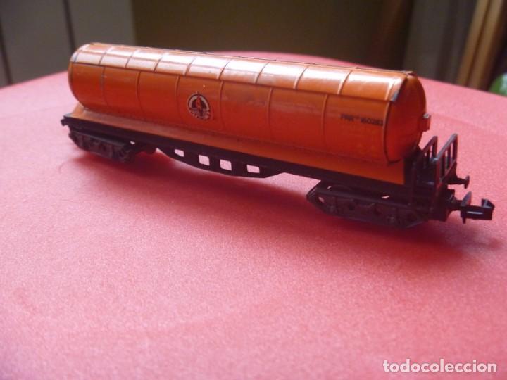 Trenes Escala: IBERTREN REF 142 VAGÓN 4 EJES ORIGINAL TRONCOS Y GAS NARANJA BUTANO - Foto 10 - 195538297