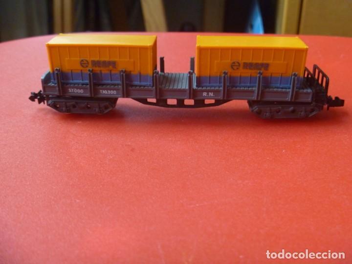 Trenes Escala: IBERTREN REF 142 VAGÓN 4 EJES ORIGINAL TRONCOS Y GAS NARANJA BUTANO - Foto 12 - 195538297