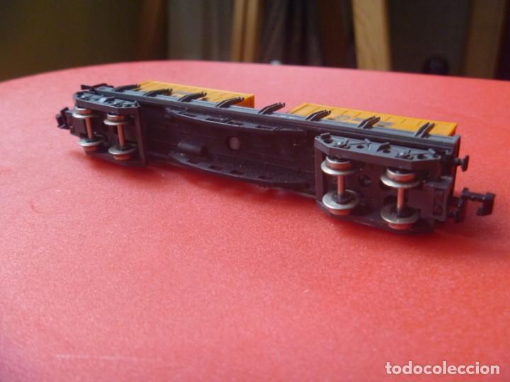 Trenes Escala: IBERTREN REF 142 VAGÓN 4 EJES ORIGINAL TRONCOS Y GAS NARANJA BUTANO - Foto 15 - 195538297
