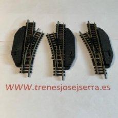Comboios Escala: MINITRIX TRES DESVIOS MANUALES. Lote 197655705