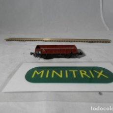 Trenes Escala: VAGÓN BORDE BAJO ESCALA N DE MINITRIX . Lote 198375631
