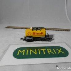 Trenes Escala: VAGÓN CISTERNA ESCALA N DE MINITRIX . Lote 198375726