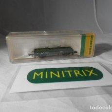 Trenes Escala: VAGÓN BORDE BAJO ESCALA N DE MINITRIX . Lote 198538195