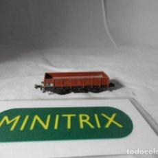 Trenes Escala: VAGÓN BORDE BAJO ESCALA N DE MINITRIX . Lote 198538397
