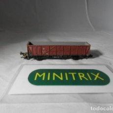 Trenes Escala: VAGÓN BORDE ALTO ESCALA N DE MINITRIX . Lote 198538442