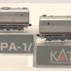 Trenes Escala: KATO SET LOCOMOTORA SANTA FE PA-1 Y PB-1 ESCALA N, REFERENCIA 106-0501. Lote 204277122
