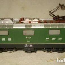 Trenes Escala: LOCOMOTORA MAQUINA TREN RE 4/4 DE LA CIA SUIZA SBB CFF ESCALA N DE MINITRIX. Lote 204362457