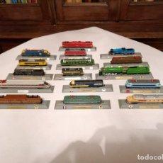 Trenes Escala: DEL PRADO 14 LOCOMOTORAS ESTÁTICAS ESCALA N NUEVAS NEW. Lote 182347213