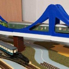 Trenes Escala: PUENTE AVE DE DOS MÓDULOS, ESCALA N CON PILARES INCLUIDOS. Lote 207131837