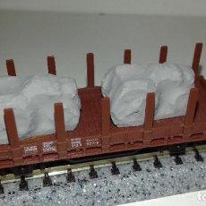 Trenes Escala: MINITRIX TELERO CON TRACTORES ENTELADOS --- L45-217 (CON COMPRA DE 5 LOTES O MAS, ENVÍO GRATIS). Lote 207973495