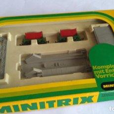 Trenes Escala: TRIX MINITRIX N SET REF 3260, 2 VAGONETAS CON VOLTEADOR AUTOMÁTICO. E CAJA.VÁLIDO IBERTREN,ROCO,ETC. Lote 208935490