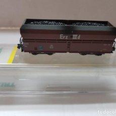 Trenes Escala: VAGON DE TREN CARBON TRIX REF.15041-11 EN BLISTER SIN USO ESCALA N. Lote 210326908
