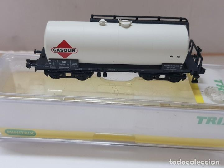 Trenes Escala: Vagon de tren Gasolin Trix ref.15173-02 en blister sin uso escala N - Foto 2 - 210327708