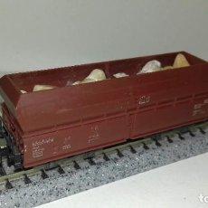Trenes Escala: MINITRIX N TOLVA 4 EJES CARGA PIEDRAS --- L46-058 (CON COMPRA DE 5 LOTES O MAS, ENVÍO GRATIS). Lote 213643586