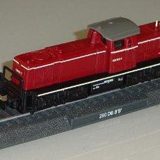 Trenes Escala: MAQUETA MODELO FERROVIARIO. LOCOMOTORA TREN. DEUTSCHE BAHN 290 DB BB. ESCALA N. 100 GR. Lote 213783786