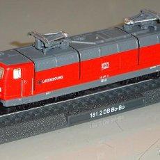 Trenes Escala: MAQUETA MODELO FERROVIARIO. LOCOMOTORA TREN. DEUTSCHE BAHN 181.2 DB BO-BO LUXEMBURGO ESCALA N. 80 GR. Lote 213783817