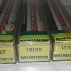 Trenes Escala: MINITRIX N 3 PASAJEROS 13197-13198-13198 --- L46-114 (CON COMPRA DE 5 LOTES O MAS, ENVÍO GRATIS). Lote 214201762