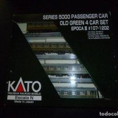 Trenes Escala: SET COCHES 5000 RENFE KATO DESCATALOGADO Y DIFÍCIL DE CONSEGUIR. Lote 214253872