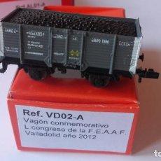 Trenes Escala: VAGON K TRAIN N. CONMEMORATIVO L CONGRESO DE LA FEAAF. VALLADOLID 2012.. Lote 219064988