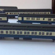 Trenes Escala: LOTE 6 VAGONES RR ITALY ESCALA N. TREN THE BLUE COMET, HALLEY.. Lote 219158021