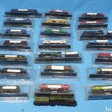 Trenes Escala: LOTE DE 22 LOCOMOTORAS DE COLECCIÓN ESTÁTICAS - ESCALA N 160. Lote 221102872