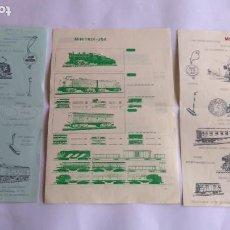 Trenes Escala: MINITRIX TRIX N ,LOTE DE DOCUMENTACIONES . LAS DE LAS FOTOS. Lote 221462733
