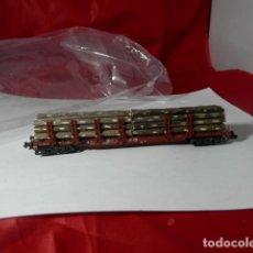 Trenes Escala: VAGÓN TELERO ESCALA N DE MINITRIX. Lote 221846013
