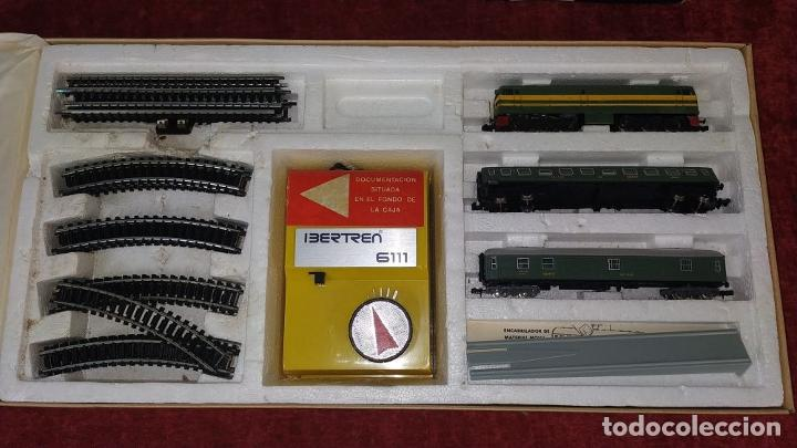 Trenes Escala: TREN ELECTRICO. IBERTREN 102. 3N. ADJUNTAMOS VAGON REF. 2.102/AZ. ESPAÑA. CIRCA 1970 - Foto 3 - 222335018