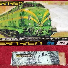 Trenes Escala: TREN ELECTRICO. IBERTREN 102. 3N. ADJUNTAMOS VAGON REF. 2.102/AZ. ESPAÑA. CIRCA 1970. Lote 222335018