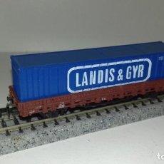 Trenes Escala: MINITRIX N BORDE BAJO CONTAINER -- L47-032 (CON COMPRA DE 5 LOTES O MAS, ENVÍO GRATIS). Lote 225031315