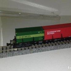 Trenes Escala: MINITRIX N PLATAFORMA CONTENEDORES 3512 --- L47-082 (CON COMPRA DE 5 LOTES O MAS, ENVÍO GRATIS). Lote 230061530