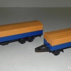 Trenes Escala: CAMION Y REMOLQUE ESCALA N --- L47-154 (CON COMPRA DE 5 LOTES O MAS, ENVÍO GRATIS). Lote 230248805