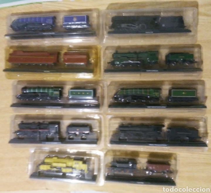 Trenes Escala: coleccion de 49 locomotoras trenes escala N club internacional del libro - Foto 2 - 232878560