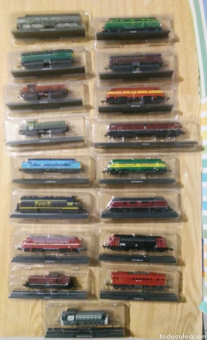 Trenes Escala: coleccion de 49 locomotoras trenes escala N club internacional del libro - Foto 3 - 232878560