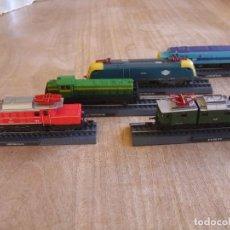 Trenes Escala: LOTE 5 LOCOMOTORAS ESTÁTICAS. METÁLICAS. NUEVAS, PRECINTADAS.. Lote 234701080